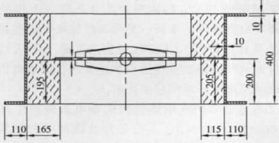 高温烟道蝶阀结构图