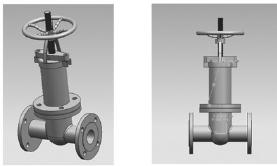 针对闸阀的模块,采用ug软件对闸阀零件进行虚拟装配,装配图如图4所示.图片