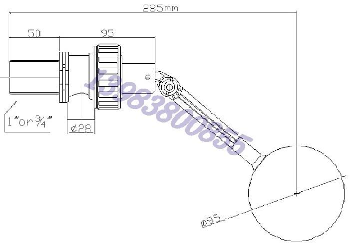 dn25可拆卸式浮球阀 冷却塔水箱浮球阀