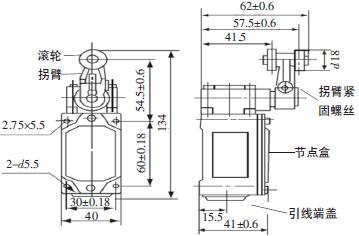 其启闭过程采用机械式行程开关(型号为lxk3-20s/b)控制,共设有5个位置
