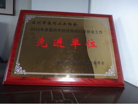 溫州市泵閥工業協會被評為溫州市經信領域行業協會工作先進單位