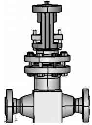核二級電動截止閥抗震分析