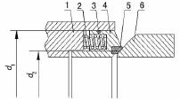 弹簧组弹性阀座结构分析