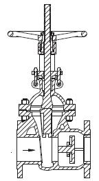 闸阀与止回阀组合的多用阀结构设计
