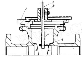测量闸阀阀体裆宽的量具