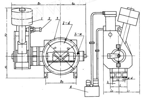 核电液控止回蝶阀设计