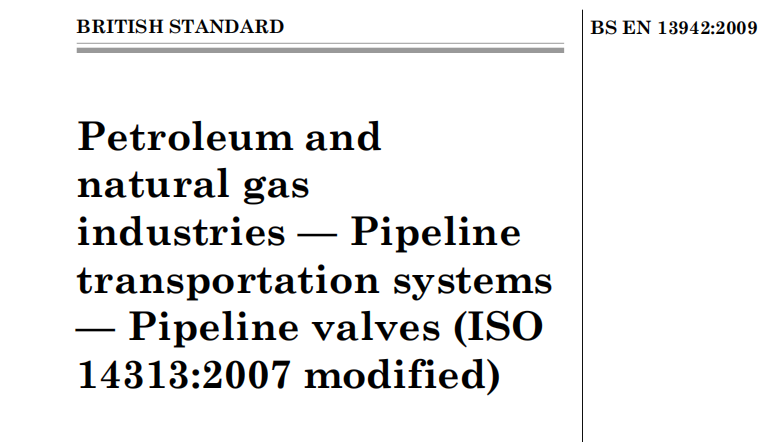 BS EN 13942-2009 Petroleum and Natural Gas Industries - Pipeline Transportation Systems - Pipeline V