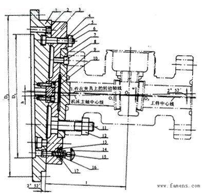 转塔式六角车床结构图