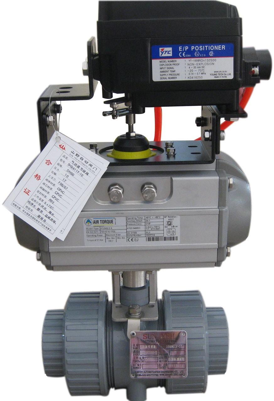 气动调节PVC球阀