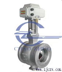 ZDRV电动V型对夹式调节球阀