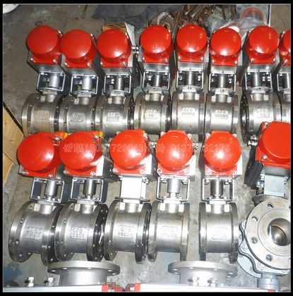 Q671F-16P不锈钢气动对夹球阀