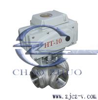 Q914F內螺紋電動三通球閥