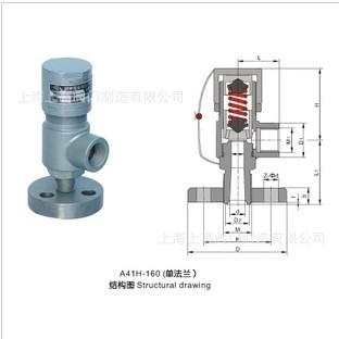 全国代理,质量可靠,品质保证,弹簧微启封闭式高压安全阀(A41H)