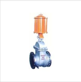 科研开发、设计咨询、生产、销售为一体、PZ641H 型 PN16~PN63 气动钢制排渣闸阀