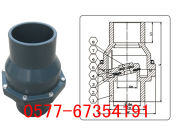 H62F-10S塑料翻板式止回阀/摇摆式止回阀