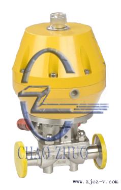 衛生級卡箍氣動隔膜閥