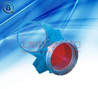 博球品牌制造扇形盲板阀,F43CX,Q235碳钢硅溶胶密封材质