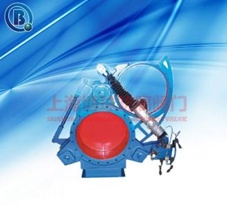 气动扇形盲板阀,F643CX-1.5C型号,Q235材质优质碳素钢