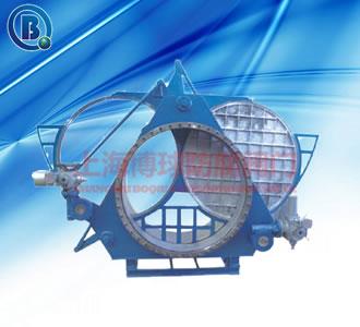 电动扇形盲板阀(电动扇形翻板阀)