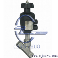 2000Y型帶手動調節氣動角座閥