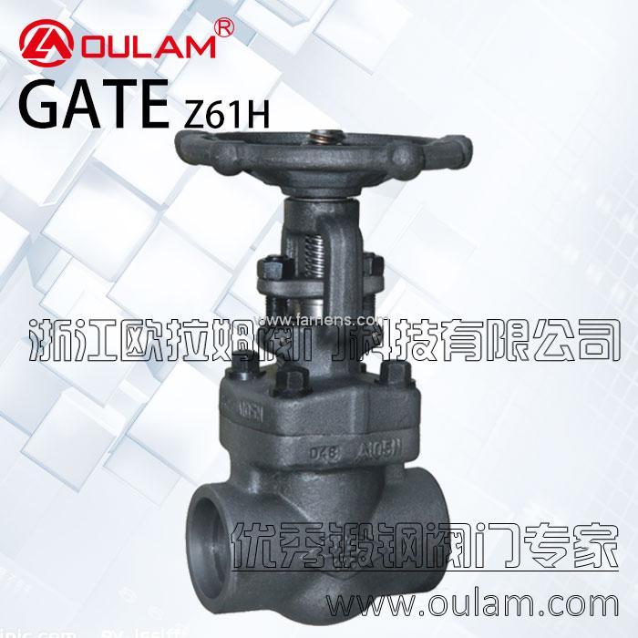 锻钢美标闸阀/焊接式锻钢闸阀Z61H型