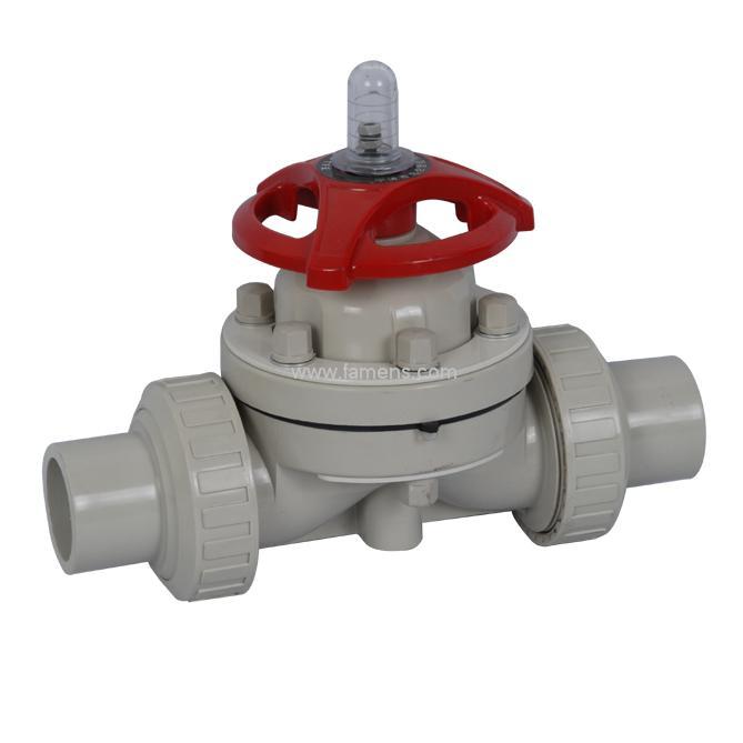 PPH承插隔膜閥,雙油令,廠家,耐腐蝕
