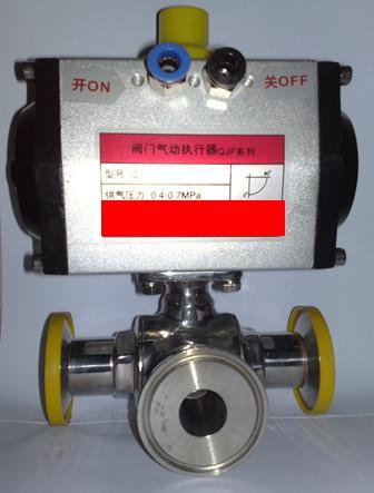 DA系列气动卫生食品级三通球阀