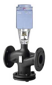 西门子蒸汽温控阀VVF43