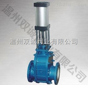 Z644TC气动陶瓷双闸板阀
