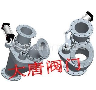 气动三通旋转分流阀 气动三通分流阀 气动三通换向阀 大唐陶瓷阀