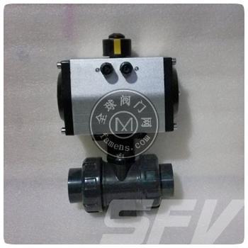 Q661F氣動雙由令焊接塑料球閥