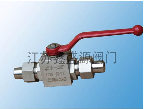 CNG焊接式高压球阀