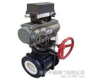 浙江中誠Q641TC-16C氣動陶瓷球閥,氣動耐磨球閥