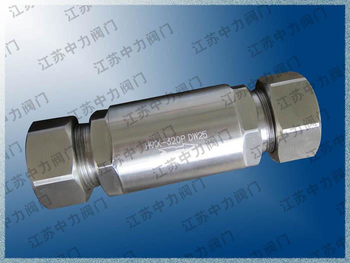 CNG天然气高压卡套单向阀