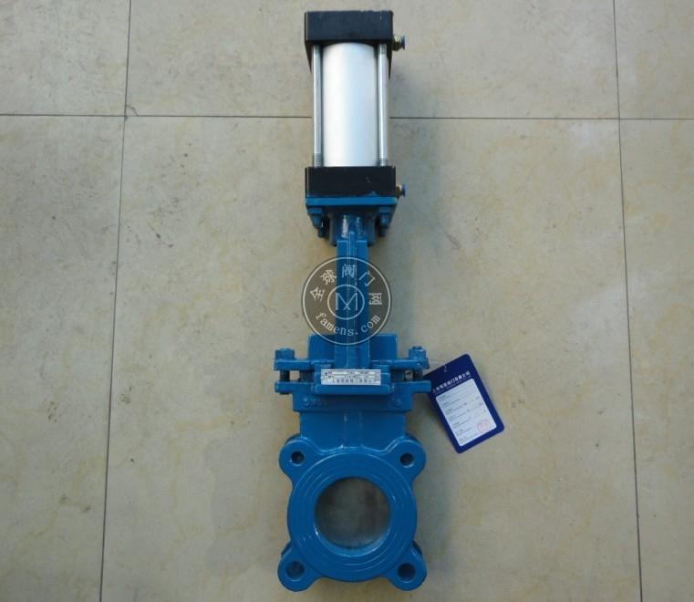 PZ643H凸耳式气动刀型闸阀