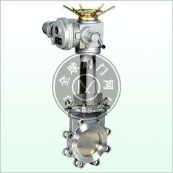 电动刀型闸阀,PZ973H电动耐磨闸阀