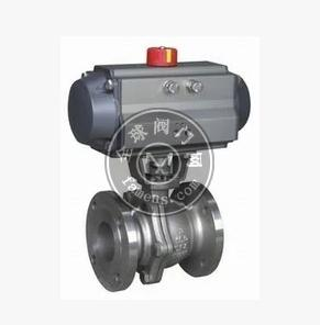 武漢氣動球閥Q641F-16P氣動不銹鋼法蘭球閥