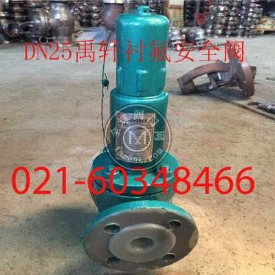 A41F46-DN20~DN250弹簧封闭式衬氟安全阀
