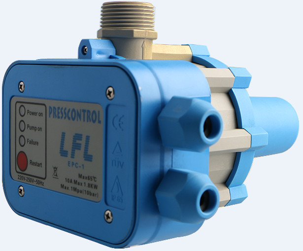 水泵 EPC电子水流自动压力开关控制器 德国威乐PUN200E 600E专用 EPC-1 水泵自动控制器的用途: 自动控制水泵的开和关,有效保持水循环系统的压力。 水泵自动控制器的好处: 1 代替传统的水箱系统。 2 根据开关水龙头来启动和停止水泵。 3 在供水期保持恒定的压力,即水流的速度基本恒定。 4 在缺水时候停止水泵,保证了水泵在缺水情况下不空转。 5 减少水击的影响。 我们公司已经成功地通过了EMC、TUV 、CE认证。 水泵自动控制器的适用范围: 1 灌溉用水泵。 2 水井用水泵。 3 小区供
