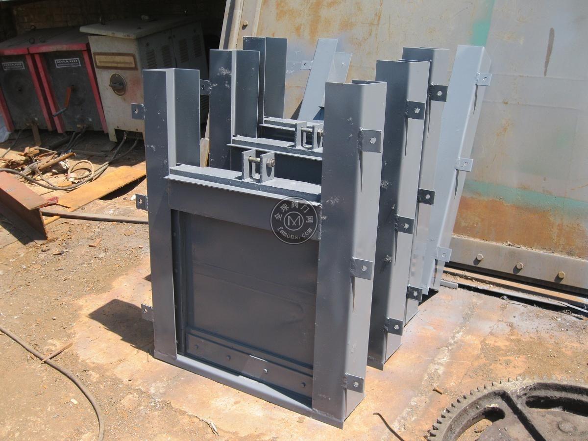 附壁式钢闸门  电动方闸门