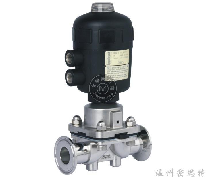 供应316L不锈钢隔膜阀、气动快装直通隔膜阀