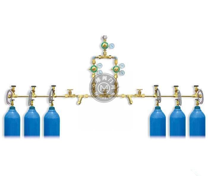 二氧化碳汇流排_两侧式10头二氧化碳汇流排双侧式12瓶二氧化碳汇流排_厂家直销
