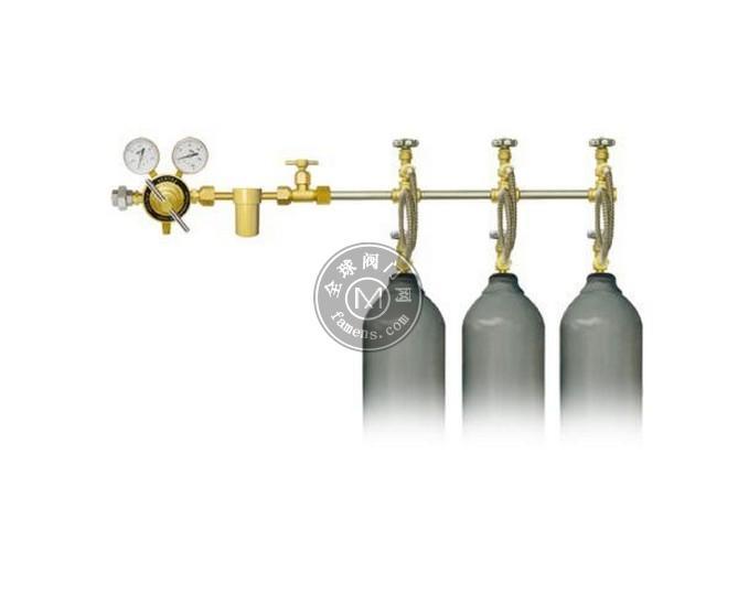 二氧化碳汇流排_两侧式2头二氧化碳汇流排双侧式4瓶二氧化碳汇流排_厂家直销