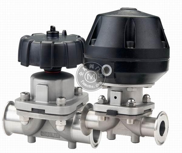 进口卫生级隔膜阀 进口气动卫生级隔膜阀