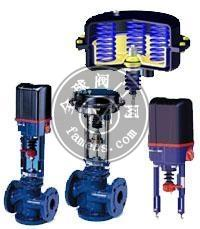 进口电动三通调节阀 热交换 冷热交换三通调节阀