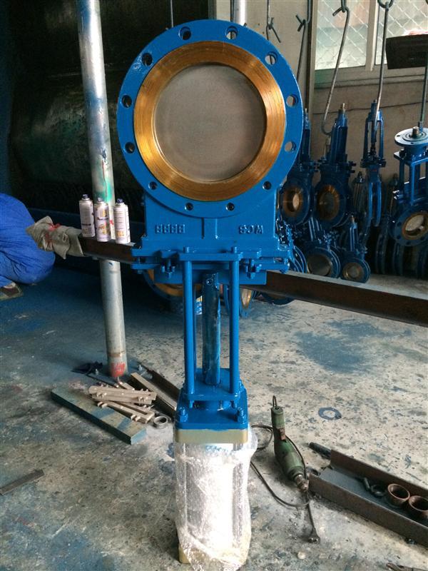 廠家供應氣動明桿刀型閘閥 氣動插板閥 氣動漿液閥 漿閘閥