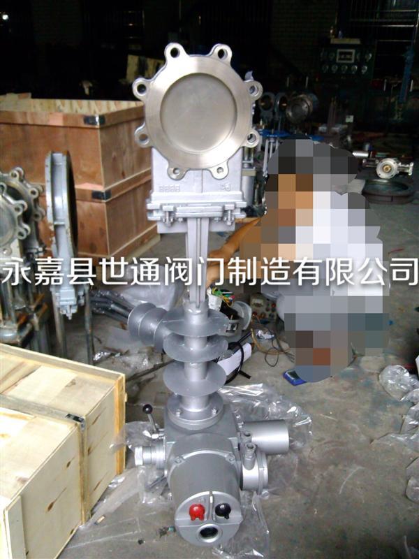 電動高溫刀型閘閥(溫度1000度) 2520材質 不銹鋼刀閘閥