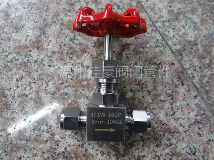 精品J91W-16P,J91W-25P,J91W-32P不锈钢卡套针型阀