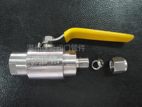 精品優質QG.QY1-64P,G1/2-¢6不銹鋼卡套式氣源球閥