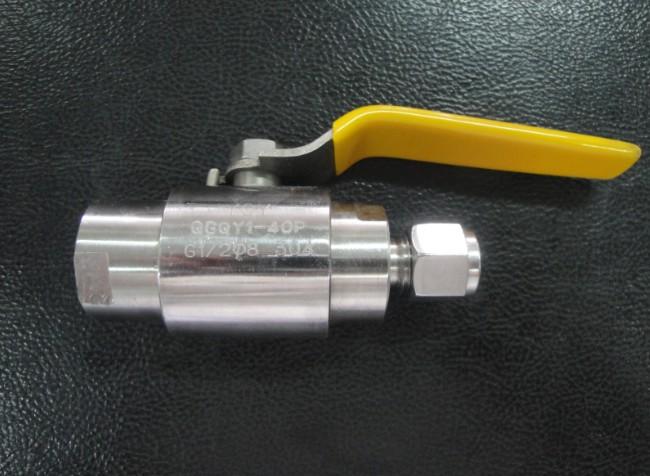 精品优质QG.QY1-64P,G1/2-¢8卡套式气源球阀,不锈钢气源球阀